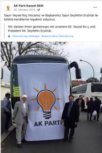 Seyfetin Eryörük, der Vorsitzende der Kassel AKP, organisiert in Kassel den Wahlkampf der AK-Partei.