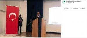 Bekir Kizilkaya hält eine Rede auf einer Veranstaltung der Millî Görüş im Philipp-Scheidemann-Haus in Kassel.
