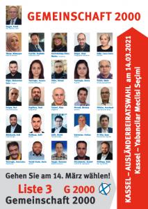 Kandidaten der Liste G2000 bei der Wahl zum Ausländerbeirat in Kassel